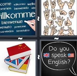 Welcome in Different Languages - Bienvenue, Hand Signals, Books, and Do You Speak English?