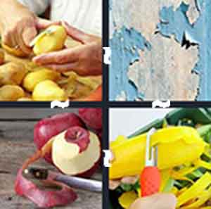 Cutting potatoes, Apple slices, Vegetable cutter, and Old peeling paper, wallpaper