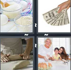 Four and sugar, Cash money, Pizza dough, and Family baking