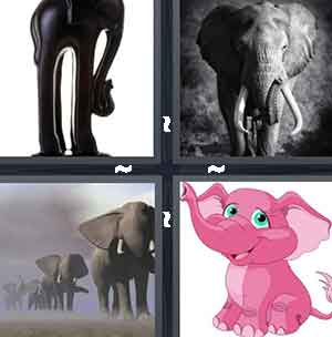 Black sculpture, Elephant, Herd of elephants, and Pink elephant cartoon